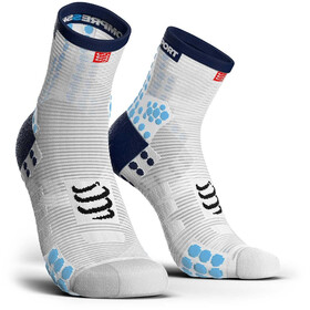 Compressport Pro Racing V3.0 Run High Socks White/Blue